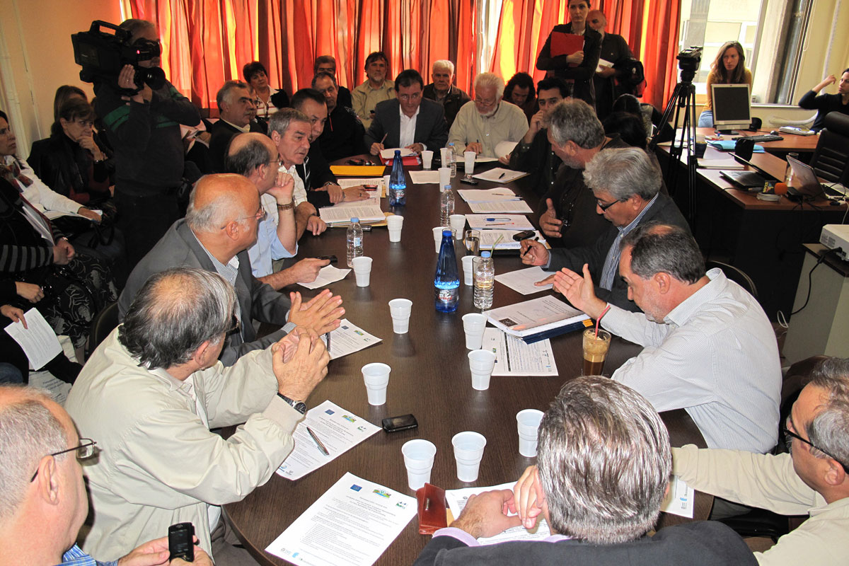 The Stakeholder Committee is considered a key element for the success of the project.  (Photo: G. Politis)