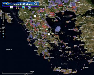 A map of Natura 2000 sites in Greece