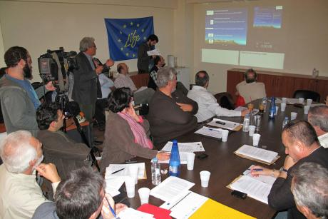 8/11/2012 First public presentation of the project in Lamia (Photo: G. Politis)