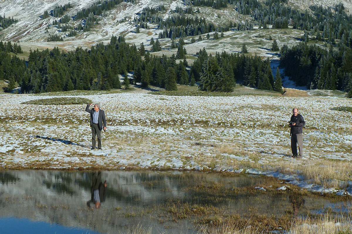 8/11/2012 The Project Team in the area of the temporary ponds on Mt. Oiti (Photo: Ch. Georgiadis)