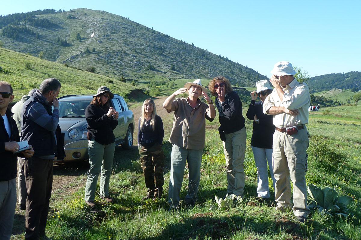 Συνάντηση μελών της επιστημονικής ομάδας στο πεδίο  (Φωτο: Χρήστος Γεωργιάδης)